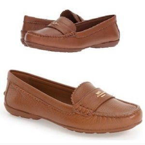 Coach Odette Brown Leather Loafers